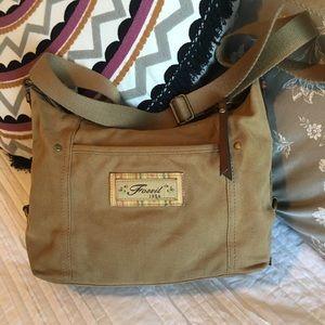 Fossil 1954 Canvas Crossbody or Shoulder Bag Key
